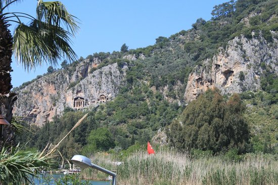 Dalyan Tezcan Hotel : The Rock Tombs - view from a boat