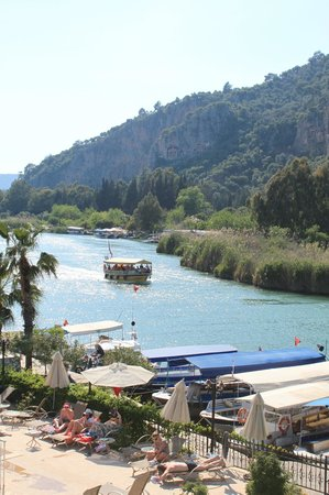 Dalyan Tezcan Hotel: View from my balcony
