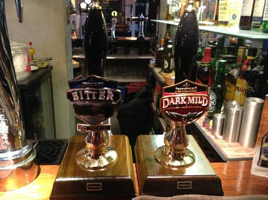 The Rising Sun Country Pub & Restaurant: 2 of our 8 real ale pumps