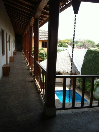 Hotel con Corazon: Second floor view