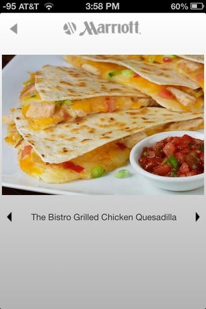 Courtyard Charlotte Airport/Billy Graham Parkway: Bistro Freshly prepared Quesadilla