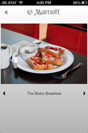 Courtyard Charlotte Airport/ Billy Graham Parkway: Bistro Freshly prepared French Toast