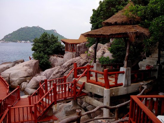 Dusit Buncha Resort: Blick vom Bungalow 108 Richtung Ko Nang Yuan
