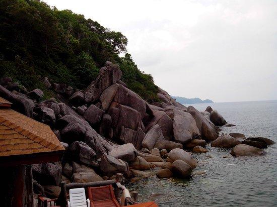 Dusit Buncha Resort: Blick vom Bungalow 108 Richtung Sairee Beach