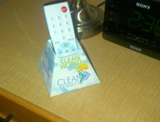 Sword Motor Inn: guaranteed clean remote!