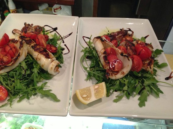 Zinco Of London: grilled squid