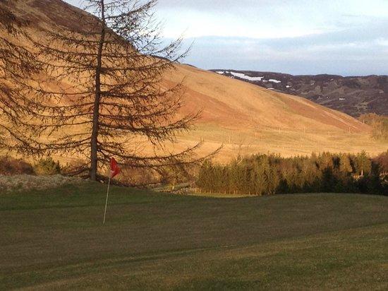 Dalmunzie Castle: Views of the golf course
