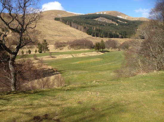 Dalmunzie Castle: Golf course first tee view