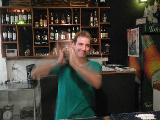 Japanese Dining Bar KANPAI: Making my Martini!