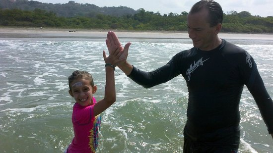 Costa Rica Surfing Company : Proud Instructor and Surfer Girl