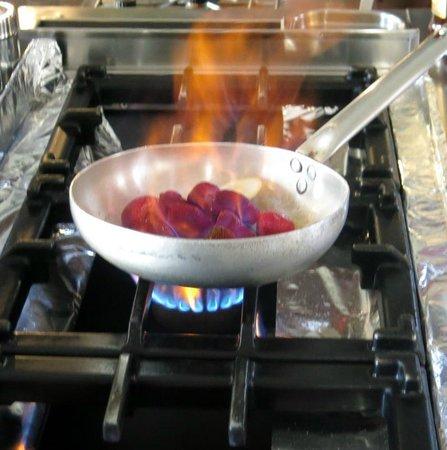 Restaurant Fernando : Flambering av jordbær