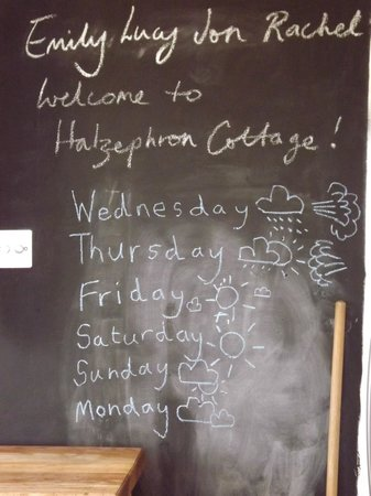Halzephron House, Cabin and B&B : A greeting from Lucy and Roger, followed by our weather record for the week!