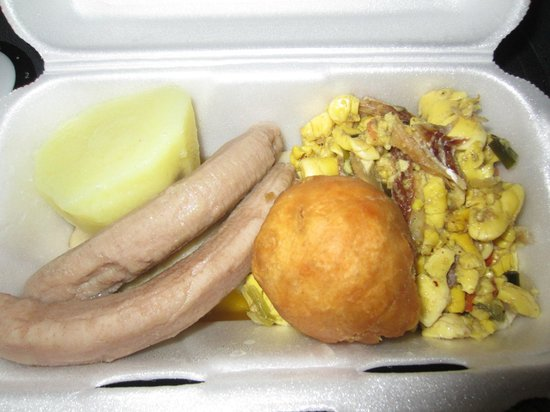 Mom's: Awesome takeout Breakfast- Ackee& Saltfish