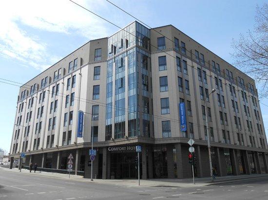 Comfort Hotel LT Rock'N'Roll Vilnius : vista dalla strada
