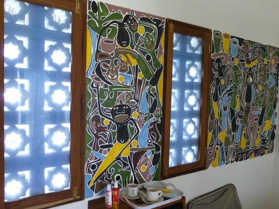 art hotel zanzibar wandbemalung im zimmer lilanga - Wandbemalung
