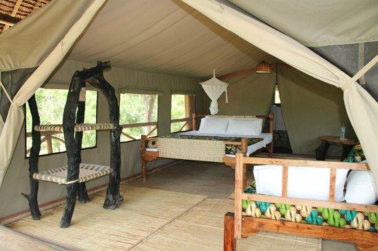 Angalia Tented Camp: Habitación