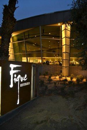 Figue Mediterranean Restaurant : Exterior at night