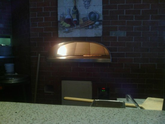 INZO Italian Kitchen : Our pizza baking.