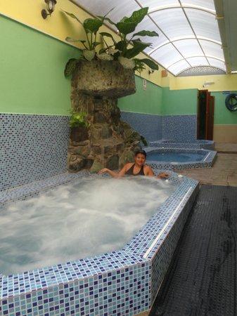 Hotel & Spa Nuevobaños: AREA DEL SPA: HIDROMASAJE, SAUNA, BAÑO DE CAJON