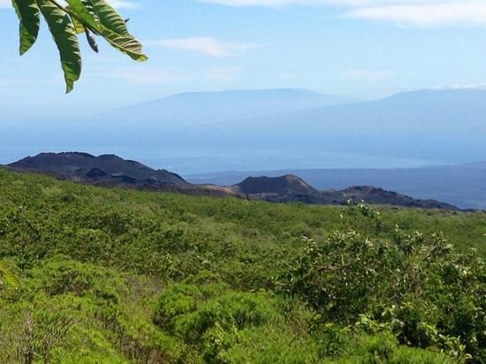 Sierra Negra: The view of Vulcan Chico, Cerro Azul and Darwin