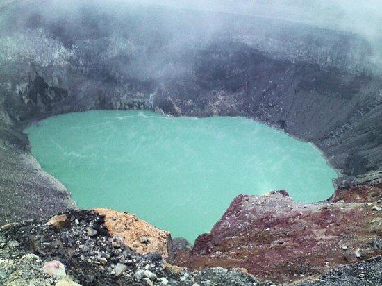 Santa Ana Volcano: Crater inside