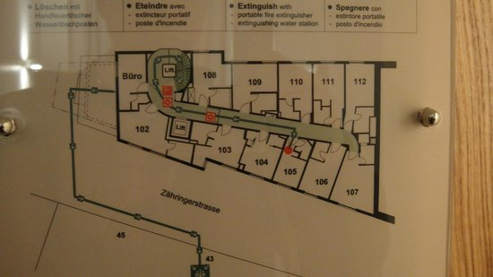 Hotel du Theatre by Fassbind: Floorplan