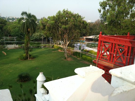 Jayamahal Palace: View from our balcony