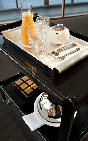 The Australasian: The breakfast trolley is discreetly left at your room door