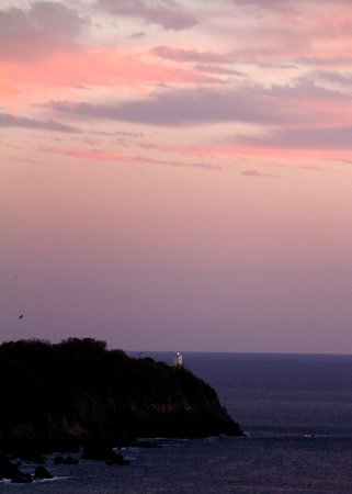 WorldMark Zihuatanejo: view from our deck at sunset