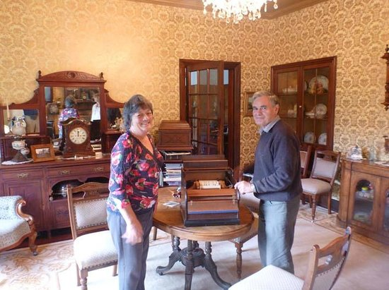 Llandaff Country Retreat B & B: Our hosts and music instrument