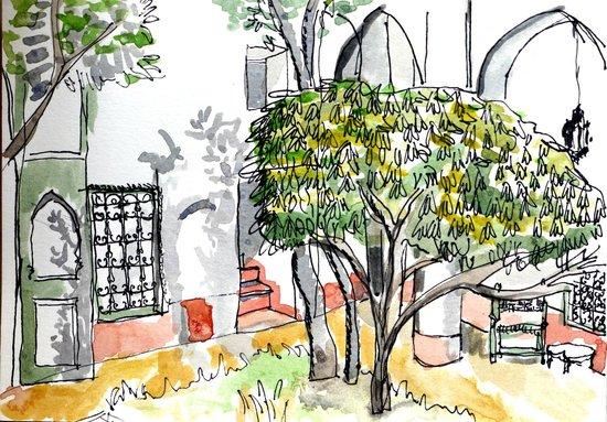 Le Riad Berbère: cour intérieur