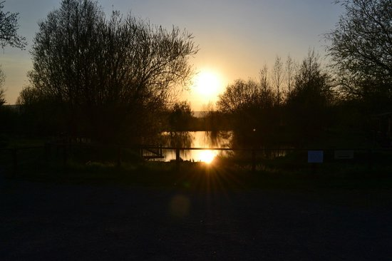 Lower Bruckland Farm Nature Reserve: Another Car park view of upper lake