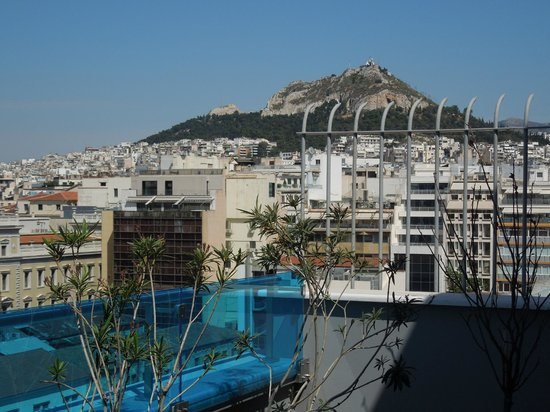 Athens Center Square: view from our balcony on the 8th floor