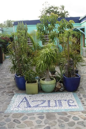 The Azure Hotel: view as you enter the courtyard