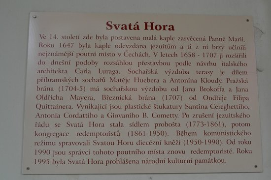 Svata Hora Shrine: History of the Holy Hill