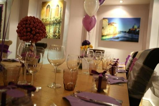 Peninsula Dining Room: Table setting for my 40th