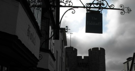 The Falstaff in Canterbury: The Falstaff Hotel sign on St. Dunstan's Street, Canterbury