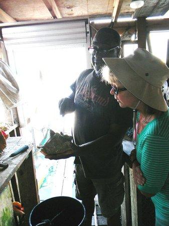 Uncle Tellis Preparing a Conch