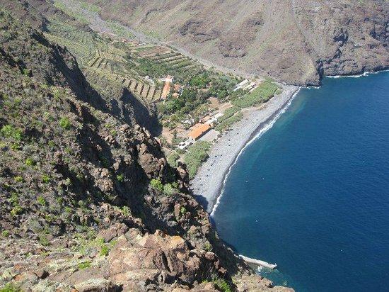 Blick vom Gipfelkreuz nach El Cabrito