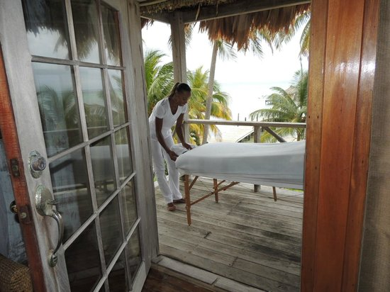 Portofino Beach Resort: Getting ready for in-room massage by Ebony