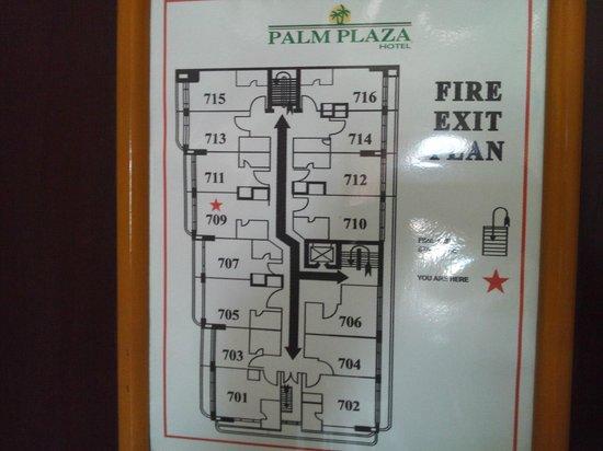 Palm Plaza Hotel: 平面図