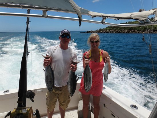 Sandals Regency La Toc: Deep Sea Fishing with our Tunas