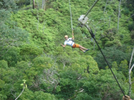 Princeville Ranch Adventures: Aloha from the middle of the zipline