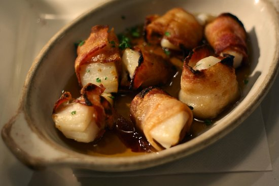 The Lobster Trap : Bacon Wrapped Scallops