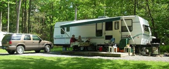 Whispering Pines Camping Estates: friends get together