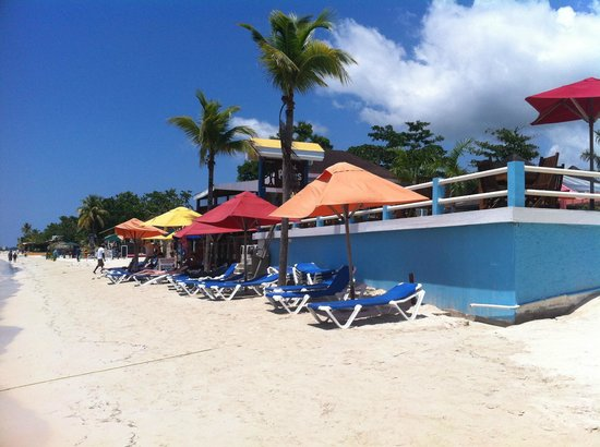 Negril Palms Hotel: palms beachfront