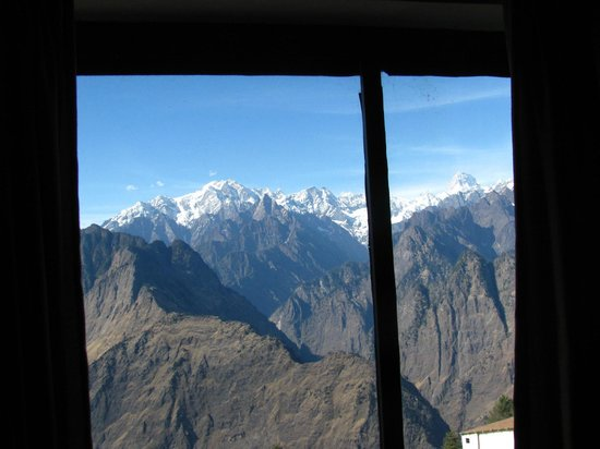 Auli, India: View from semi delux room
