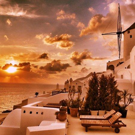 Fanari Villas: Coucher du soleil à la Villa