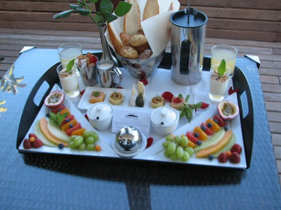 Atlanticview Cape Town Boutique Hotel: Breakfast in the room