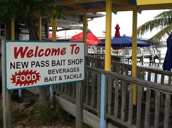 New Pass Grill and Bait Shop: Add a caption